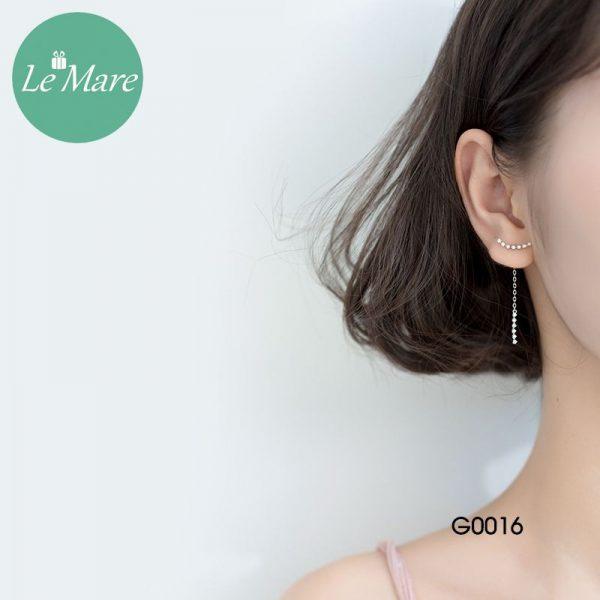 Khuyên tai bạc thời trang dây Le'mare Jewelry G0016 3