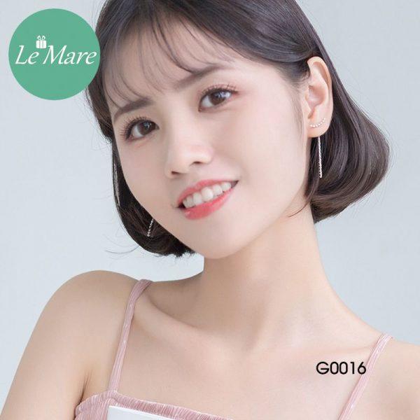 Khuyên tai bạc thời trang dây Le'mare Jewelry G0016 4