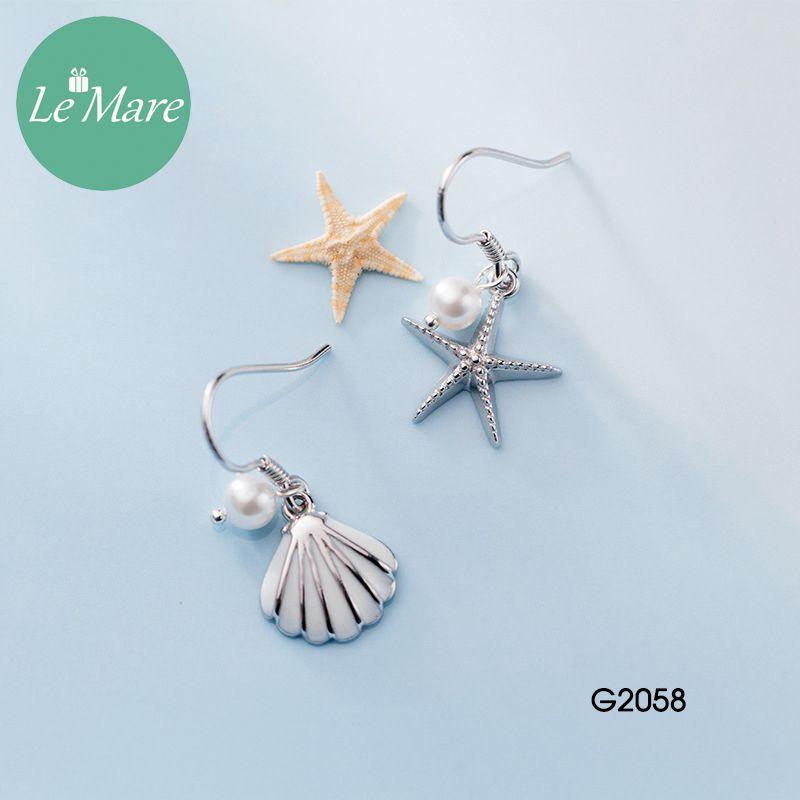 Khuyên tai bạc thời trang Sao biển, vỏ sò Le'mare Jewelry G2058 8