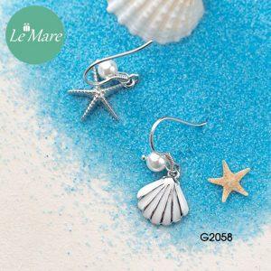 Khuyên tai bạc thời trang Sao biển, vỏ sò Le'mare Jewelry G2058 6