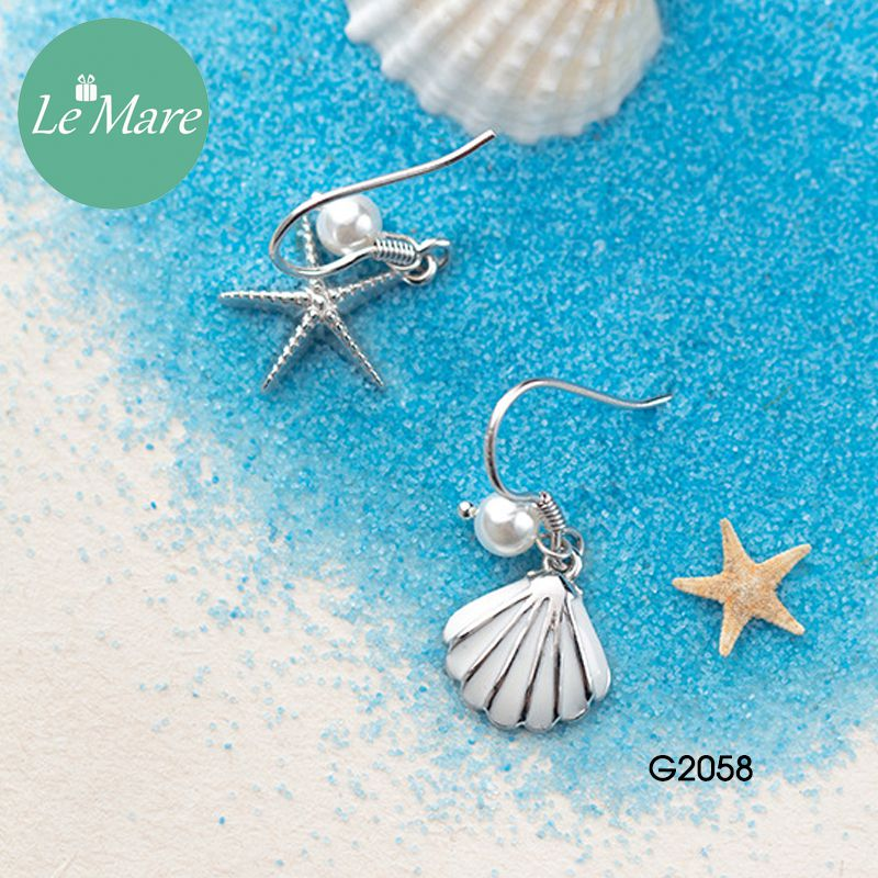 Khuyên tai bạc thời trang Sao biển, vỏ sò Le'mare Jewelry G2058 10