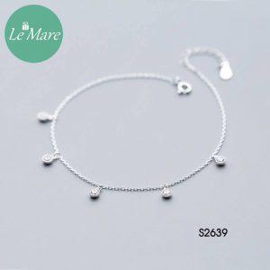 Lắc chăn bạc thời trang đá rơi Le'mare Jewelry S2639 5