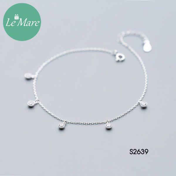 Lắc chăn bạc thời trang đá rơi Le'mare Jewelry S2639 2