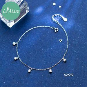 Lắc chăn bạc thời trang đá rơi Le'mare Jewelry S2639 6