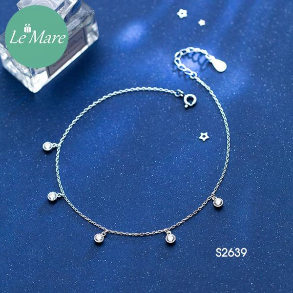 Lắc chăn bạc thời trang đá rơi Le'mare Jewelry S2639 3