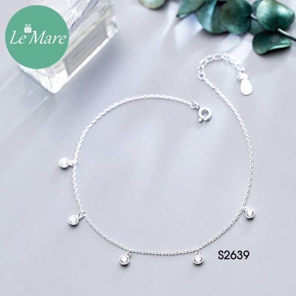 Lắc chăn bạc thời trang đá rơi Le'mare Jewelry S2639 4
