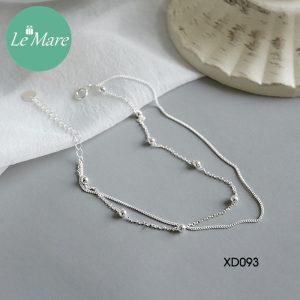 Lắc chân bạc XD093 5