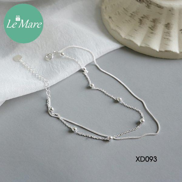 Lắc chân bạc XD093 2
