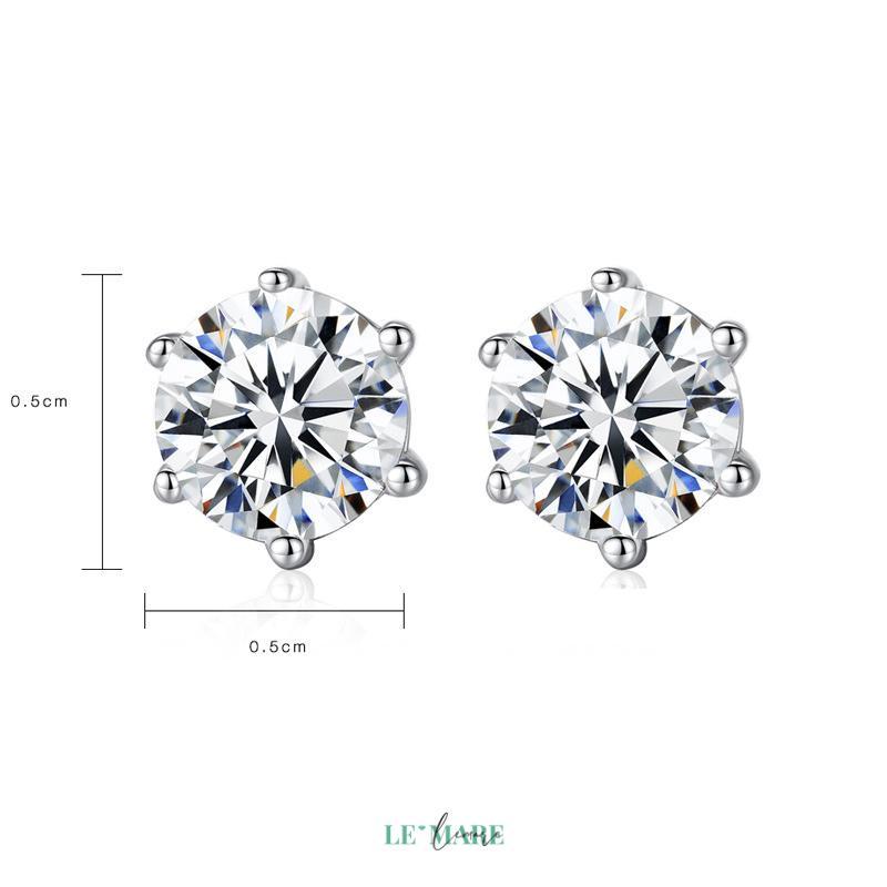 Khuyên tai bạc kim cương nhân tạo SE0012 11