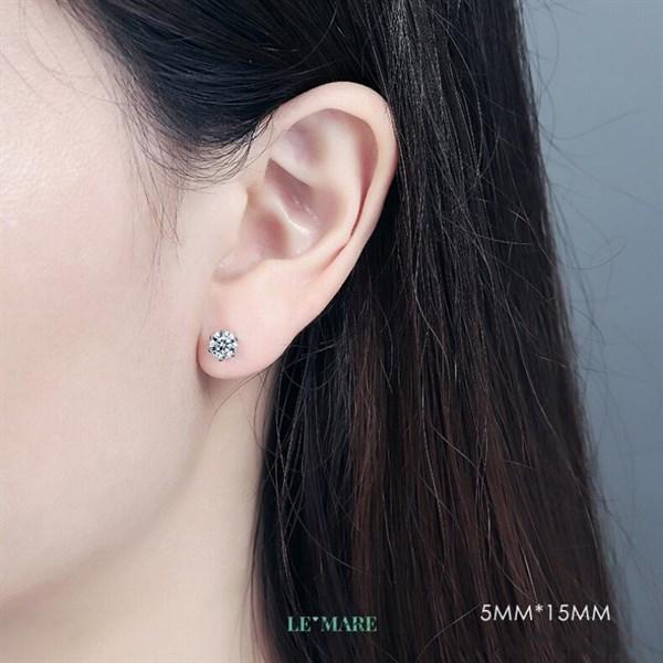Khuyên tai bạc kim cương nhân tạo SE0012 5