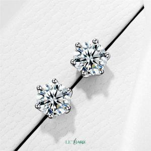 Khuyên tai bạc kim cương nhân tạo SE0012 7