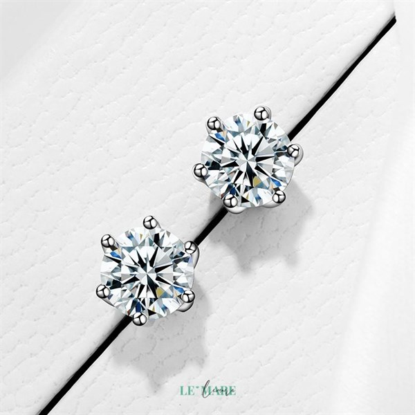 Khuyên tai bạc kim cương nhân tạo SE0012 3