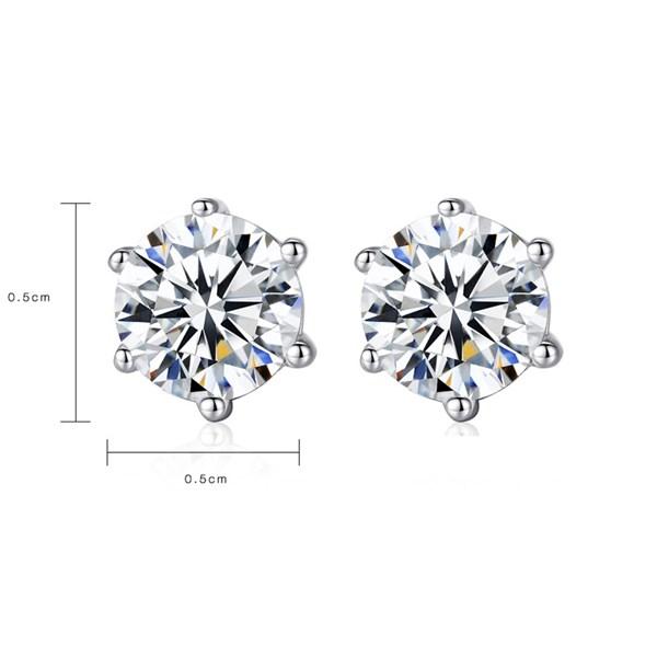 Khuyên tai bạc kim cương nhân tạo SE0012 1