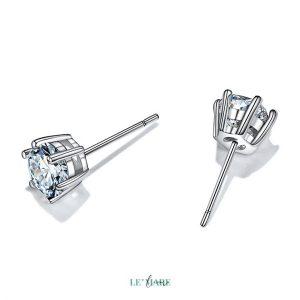 Khuyên tai bạc kim cương nhân tạo SE0012 8