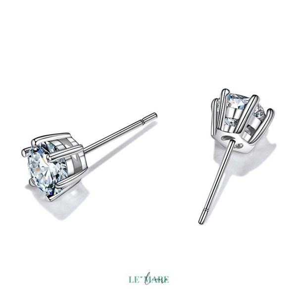 Khuyên tai bạc kim cương nhân tạo SE0012 4